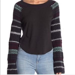 Free People Fairground Long Thermal Knit Top